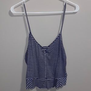 American Eagle cropped ruffle camisole tank top